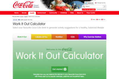 Coca-Cola Work it Out Calculator