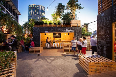 Urban Coffee Farm and Brew Bar pop-up by Hassell Practice, Melbourne