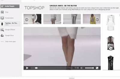 Topshop The Future of the Fashion Show with Google