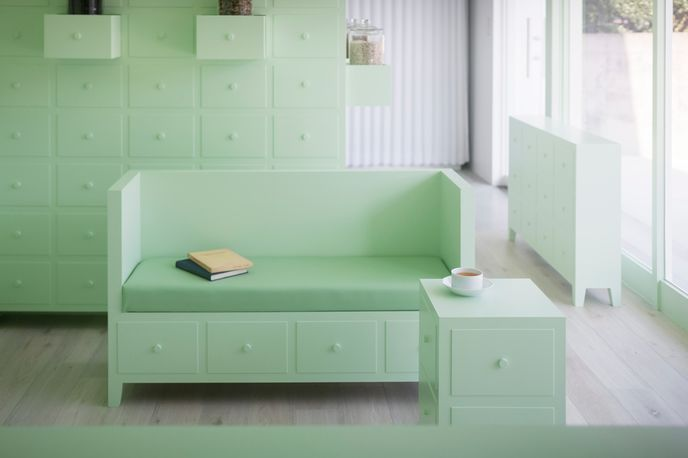 Sumiyoshido Kampo lounge by id, Japan