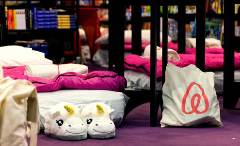 Accidental lock-in inspires Airbnb to host sleepover in book store