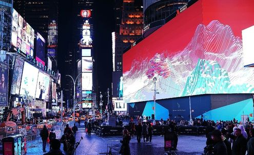 Times Square takes outdoor advertising to new heights