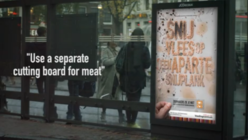 Dirty work: Billboard visualises food poisoning by growing bacteria