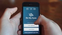 App connects blind people to volunteers worldwide via their smartphones
