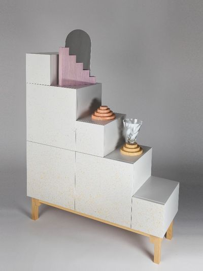 Stairs drawer by Petra Lilj for Methods at Twelve, Stockholm Furniture Fair