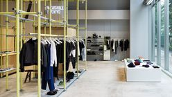 Pole position: Scaffolding and exposed pipes give Tokyo store an industrial feel