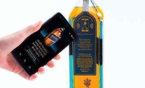 Johnnie Walker shows off its new anti-counterfeit smart bottle