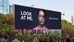 Billboard uses facial recognition