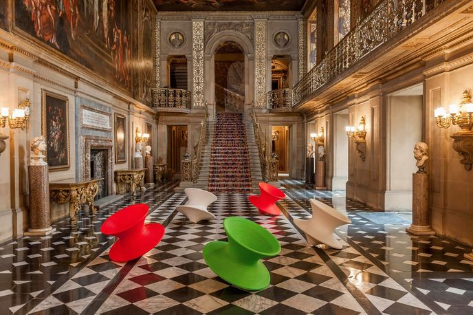 Spun Chairs by Thomas Heatherwick at Make Yourself Comfortable at Chatsworth, Derbyshire