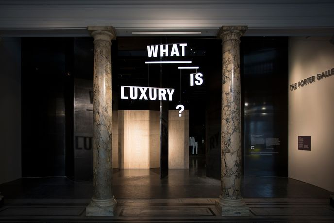 What is Luxury? exhibition in collaboration with the Crafts Council at the V&A Museum, London