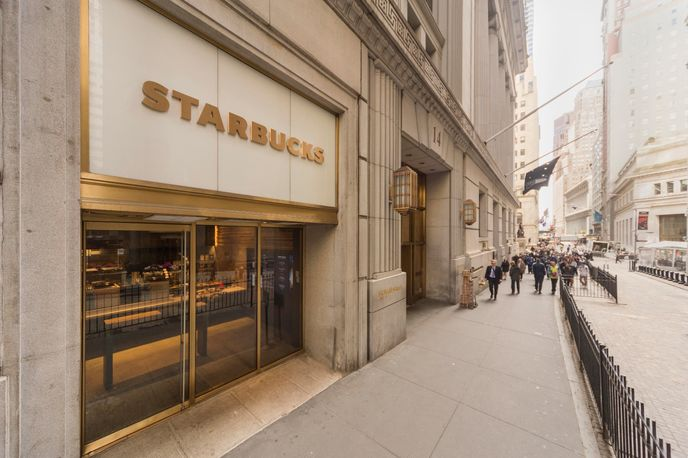 Starbucks Express Store in Wall Street, New York