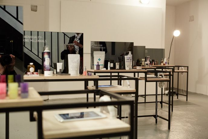 The Ethnographic Vanity Room shown at the Beauty Futures Forum at The Future Laboratory, London