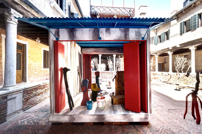 Becoming Marni exhibition with Véio at Venice Biennale.