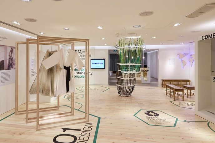 The Conscious Lounge at H&M designed by FormRoom, London