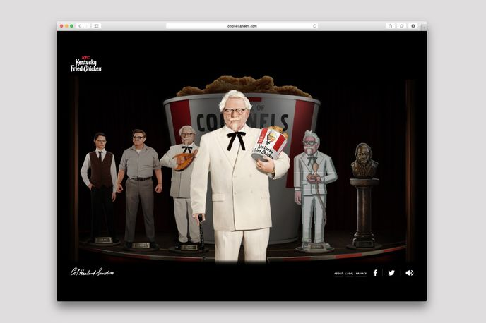 KFC Colonel Sanders Microsite created by Wieden + Kennedy, US