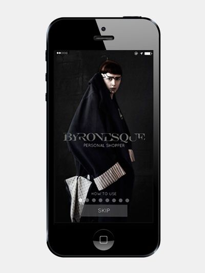 Byronesque Personal Shopper app, New York