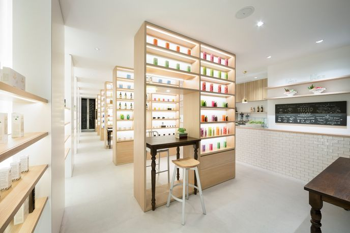 Beauty Library designed by Nendo for Natures Way, Tokyo