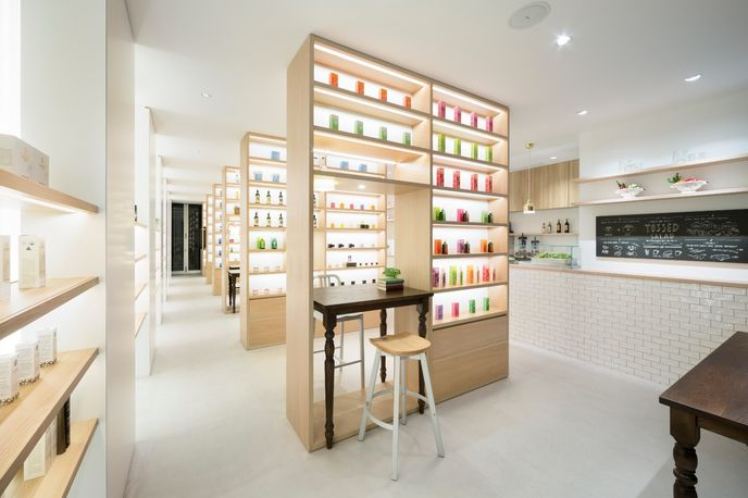 Beauty Library designed by Nendo for Nature's Way, Tokyo