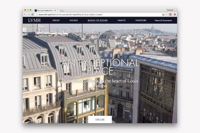 Behind the Scenes campaign by Louis Vuitton, Paris