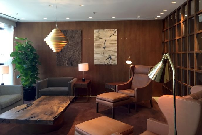 The Pier first class lounge designed by Studioilse for Cathay Pacific Airways at Hong Kong International Airport
