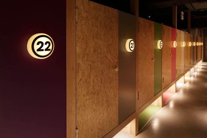 Booth Net Café & Capsule designed by Fan Inc., Tokyo