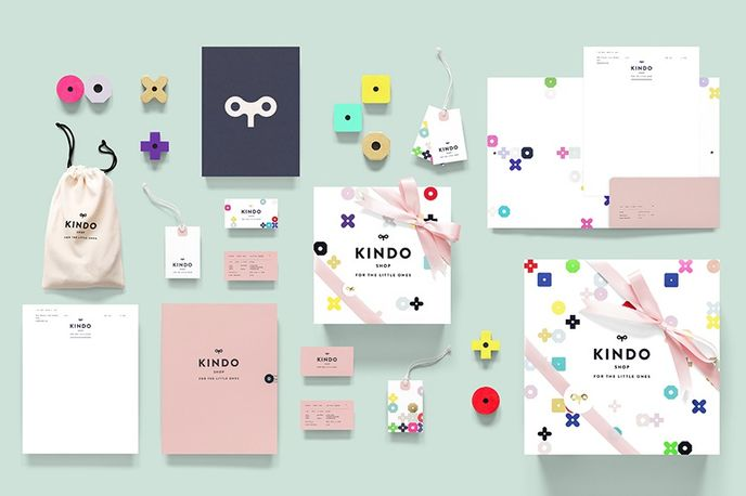 Kindo store and branding designed by Anagrama, Mexico