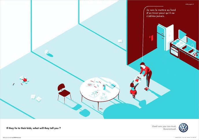 Kids ad for Volkswagen by DDB, Paris