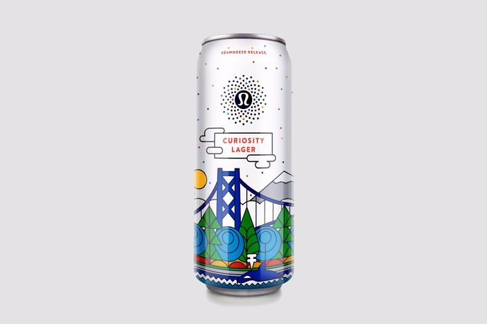 Curiosity lager by Lululemon and Stanley Park Brewing, Vancouver