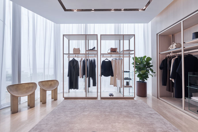 The Row at Lane Crawford Store designed in collaboration with Yabu Pushelberg, Hong Kong