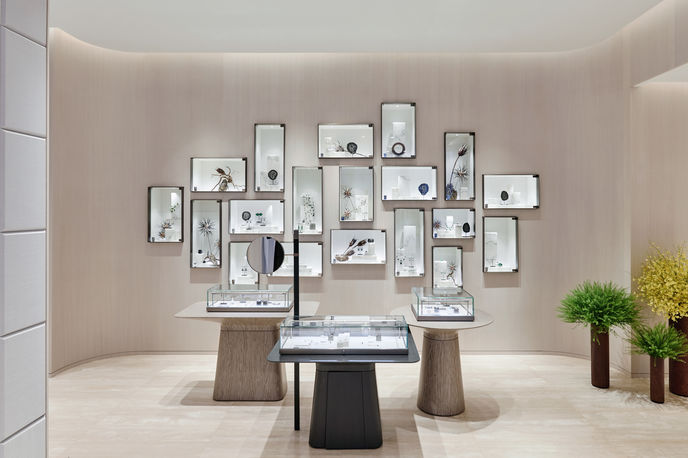 The Jewellery Salon at Lane Crawford Store designed in collaboration with Yabu Pushelberg, Hong Kong