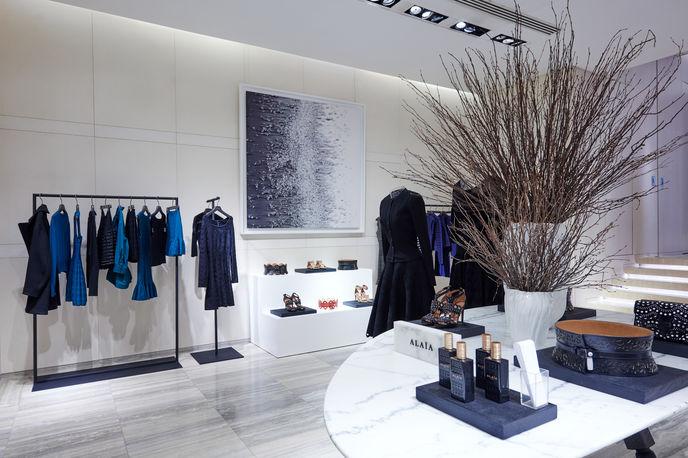 Alaïa at Lane Crawford Store designed in collaboration with Yabu Pushelberg, Hong Kong