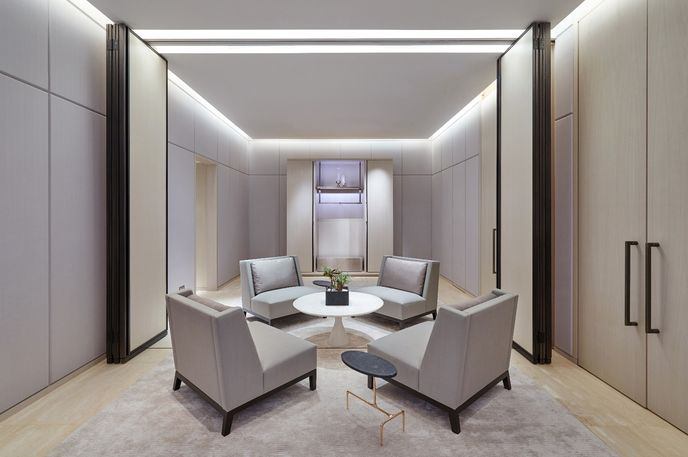 The Platinum Suite at Lane Crawford Store designed in collaboration with Yabu Pushelberg, Hong Kong