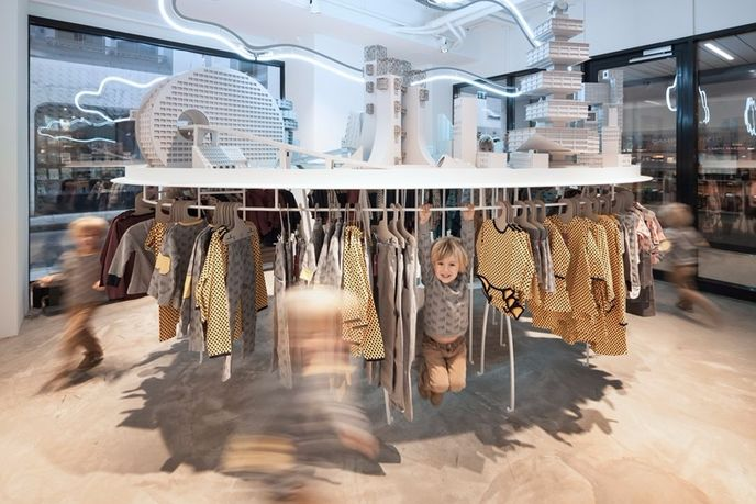 installation by Bureau A at the L'Asticot flagship store, Geneva