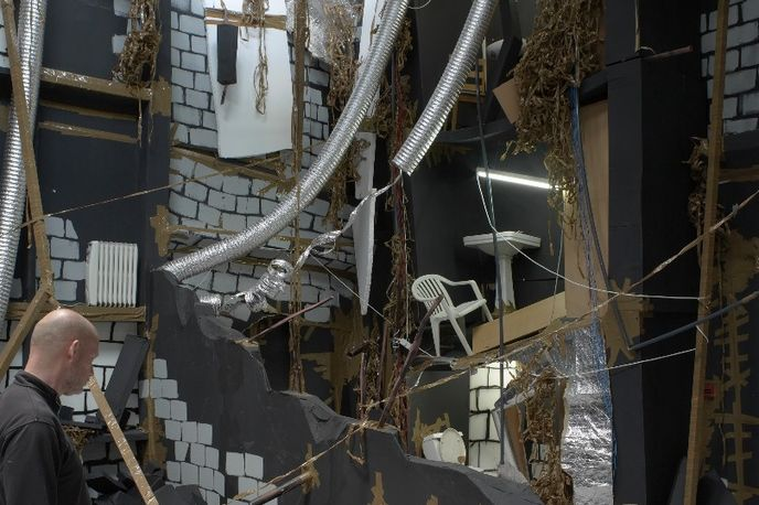 In-Between by Thomas Hirschhorn at the South London Gallery. Photography by Andy Keate