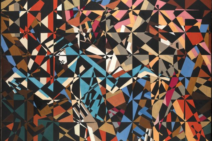 In the Hold by David Bomberg,1913–4 at Tate Sensorium created by Flying Object, London