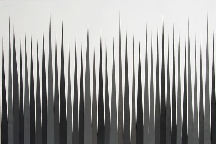 Detail of Vertical Narrow I (from the Grey series) by Nayia Frangouli