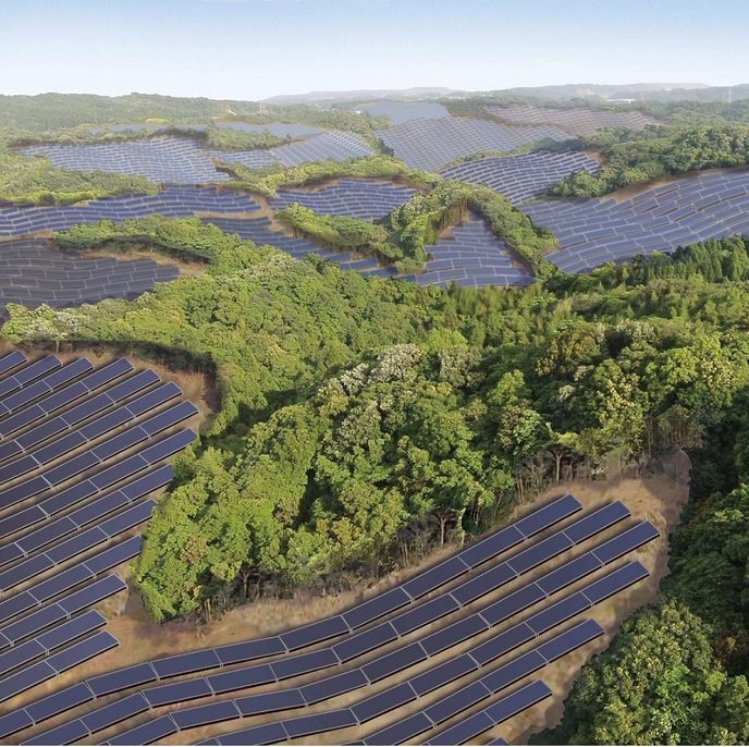 Solar power plant by Kyocera Solar, Japan