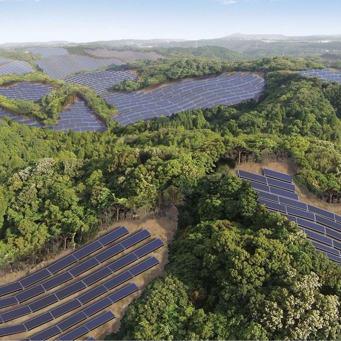 Solar power plant by Kyocera Solar, Japan