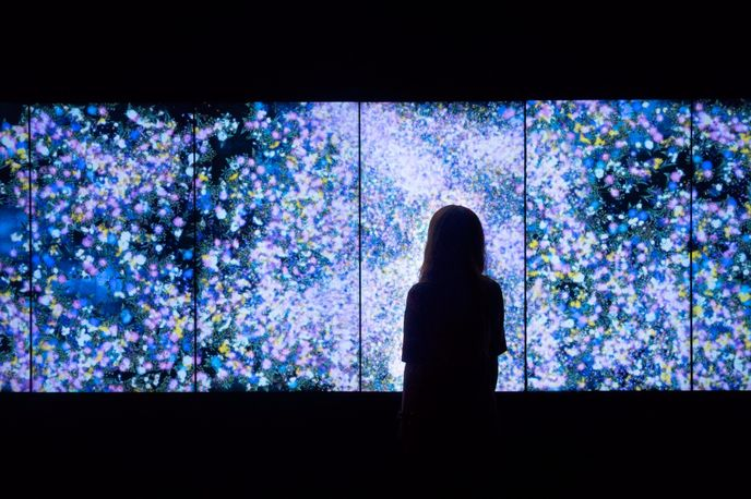 Interactive Digital installation by teamLab at the Saatchi Gallery, London