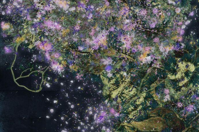 Digital Work, Endless, by teamLab at the Saatchi Gallery, London