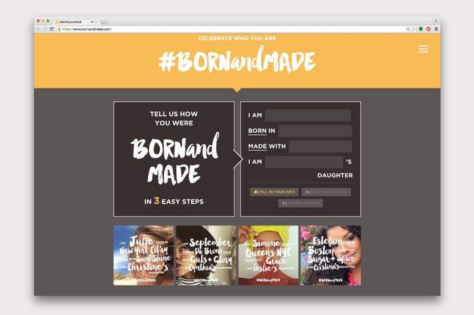 Born and Made microsite by Carol's Daughter