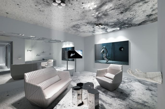 The Space Suite designed by Michael Najjar at The Kameha Grand Zurich hotel, Zurich