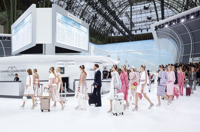 Chanel Airlines Spring summer 2016 show invitation, Paris