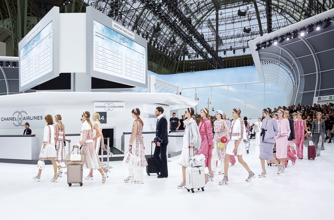 Chanel Airlines SS16 catwalk show