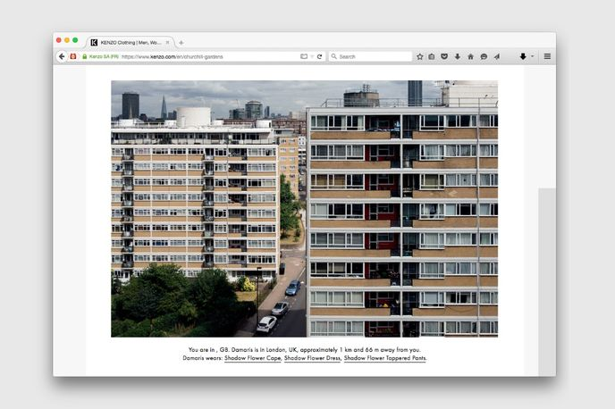 Churchill Gardens editorial from Kenzo, Global. Photography by Partel Oliva