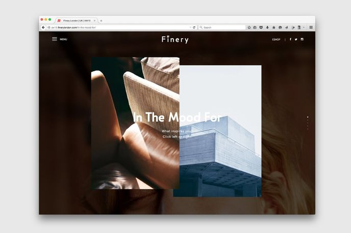 In the Mood For online feature from Finery, UK