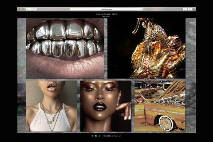 Gold 001 website by Pat McGrath labs, US