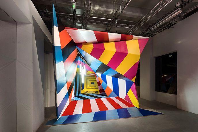 Hallucinogen by Maser at the Perspective Playground exhibition by Olympus, Paris