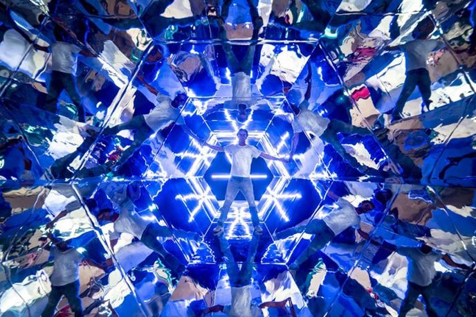 Magic Kaleidoscope by A2arquitectos at the Perspective Playground exhibition by Olympus, Paris
