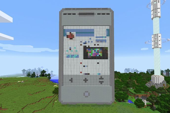 Verizon communications network within Minecraft, Global